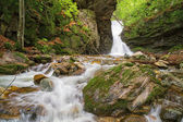 Small waterfall In Balkan Mountains — Stock Photo