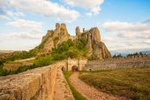 Belogradchik fortress entrance and the rocks — Stockfoto