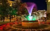 Colored fountain in Sofia, Bulgaria — Stock Photo