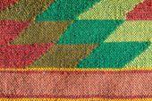 Colored handmade fabric — Stock Photo