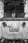 Abandoned locomotive — Stock Photo