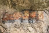 Old cave murals, Bulgaria — Stock Photo