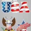 Made in USA labels — Vector de stock  #61864775
