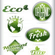 Eco bio logos — Stock Vector #63149211