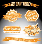 Vintage premium quality collection — Stock Vector