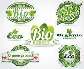 Eco bio logos — Vector de stock