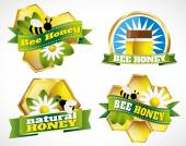 Labels for natural honey — Stock Vector