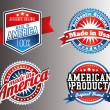Made in USA labels — Stockvector  #63392613