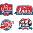 Made in USA labels — Vector de stock  #63403521