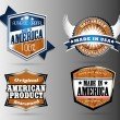 Made in USA labels — Stockvector  #63404569