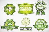 Labels for natural products — Stock Vector