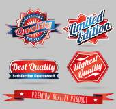 Quality vintage labels — Stock Vector