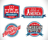 Made in USA labels — Stock Vector