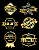 Golden royal quality labels — Stock Vector