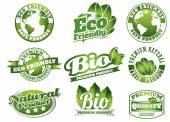 天然产品的标签 — 图库矢量图片