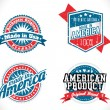 Made in USA labels — Stockvector  #63415133