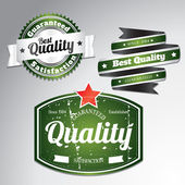 Green quality labels — Vettoriale Stock