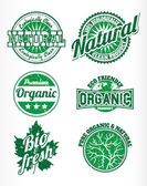 Etiquetas para productos naturales — Vector de stock