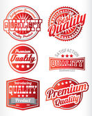 Red and white  labels — Stock Vector