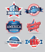Made in usa vintage labels — Vector de stock