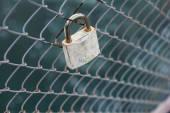 Lock on the bridge — Stock Photo