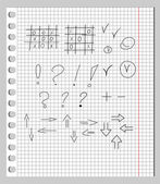 Scribbles in a Notebook — ストックベクタ