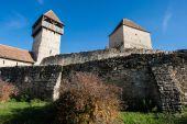 ルーマニア トランシルヴァニアで calnic の中世の要塞 — ストック写真