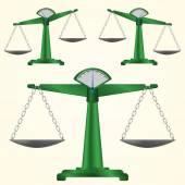 Groene pan schalen — Stockvector