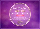 Save the date. Wedding invitation — Stock Vector
