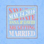 Retro wedding invitation card — Stock Vector