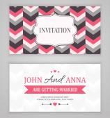 Сохранить дату, свадебные приглашения — Cтоковый вектор