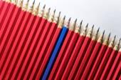 Merry pencil among sad — Stock Photo