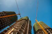 Edifícios em construção — Fotografia Stock