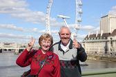 Senior couple in London — Stock Photo