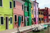 Colorful houses of Brano island, Venice — Stock Photo