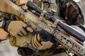 Sniper rifle holds — Stock Photo