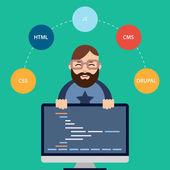 Web developer — Stock Vector