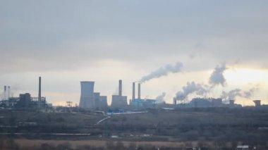Fabryki stali z palenia Piece — Wideo stockowe