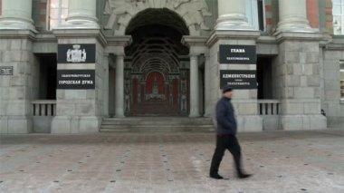 Ekaterinburg building of the regional Duma — Vídeo de stock