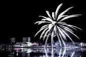 Fireworks over the City of Umeå, Sweden — Stock Photo