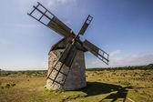 Windmill on Field in Gotland — Foto Stock
