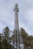 Cellphone Tower with Trees — Stock Photo