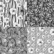 Set of four seamless floral textures — Stock Vector #62557639