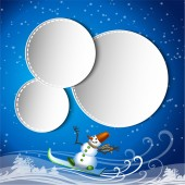 Greeting card with a snowman — Stock Vector