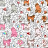 Funny cartoon cats — Wektor stockowy