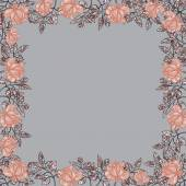 Floral background with roses. — Stock Vector
