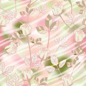 Vector seamless texture with roses. — Stock Photo