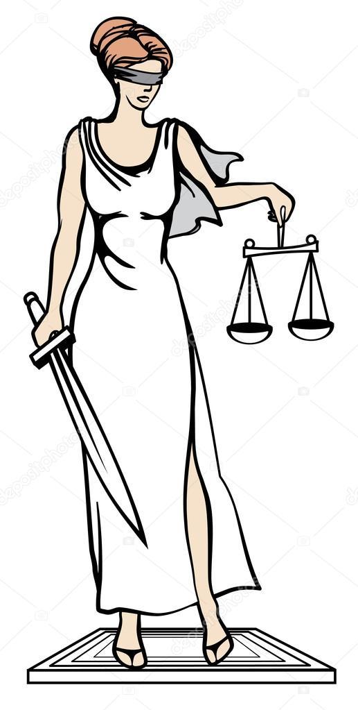Феміда - богині правосуддя. Векторні ілюстрації. Феміди - Стоковий вектор tinkerfrost #77401730