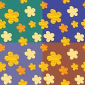 Dessin sans couture fleurs — Vecteur
