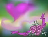 Γραμμές τριαντάφυλλα στο άνυσμα θολή floral φόντο. Μπορεί να χρησιμοποιηθεί για την πρόσκληση, ταπετσαρία, φόντο, ιστοσελίδα — Διανυσματικό Αρχείο